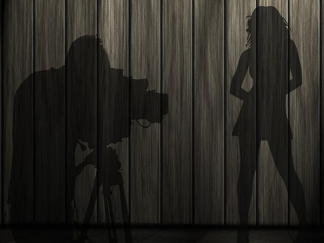 fotograf při práci