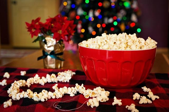 popcorn jako pochoutka i o Vánocích