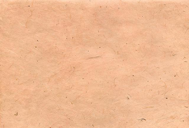 ruční papír lososový s vlákny