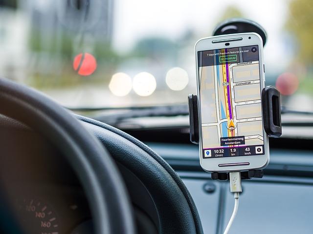 navigace přes mobil