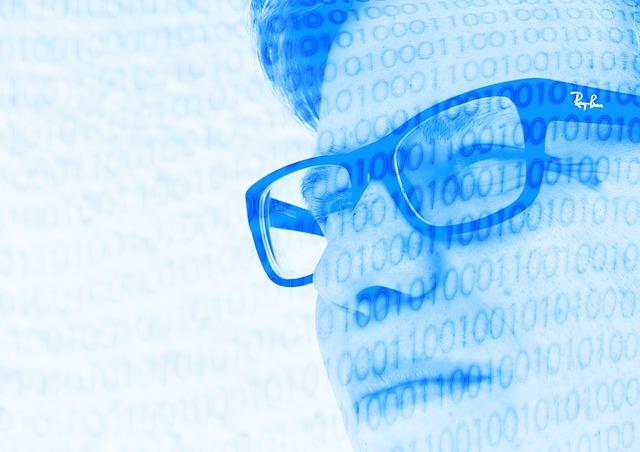 muž v síti kódů