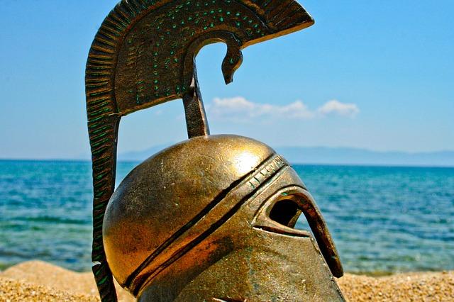 řecká helma