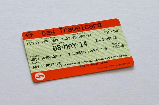 vlaková jízdenka