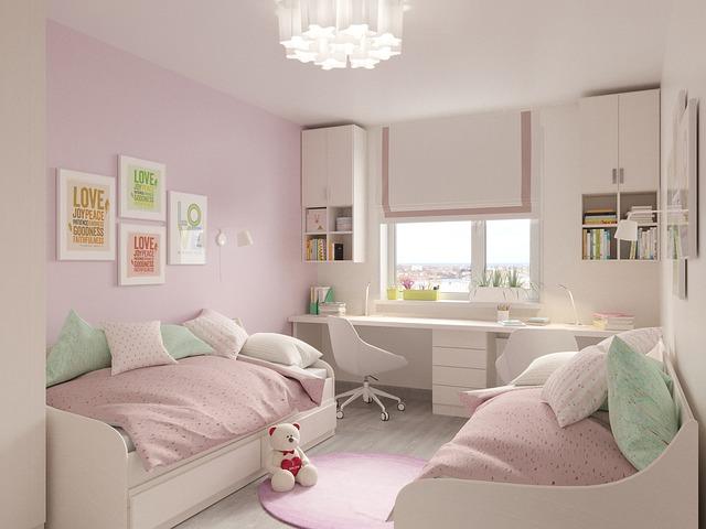 dětské postele s úložným prostorem – dívčí pokojíček