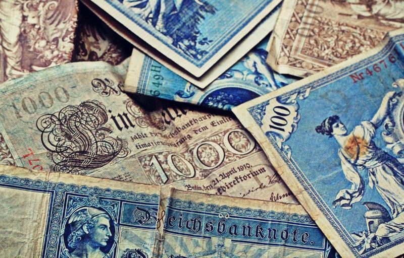 historické bankovky