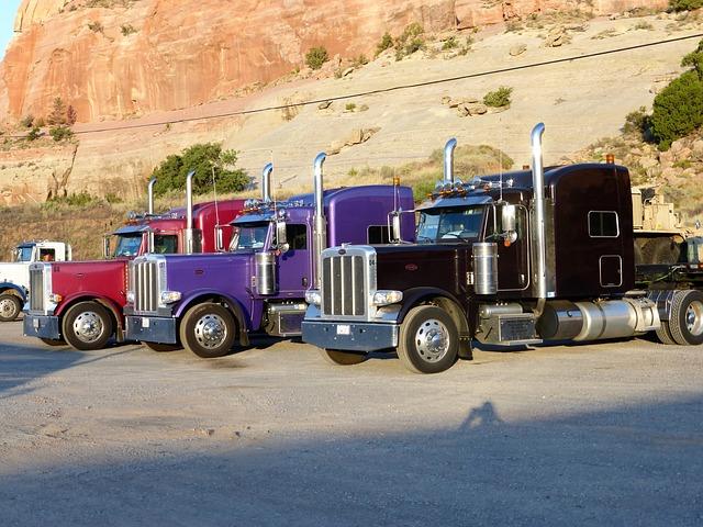 stojící náklaďáky
