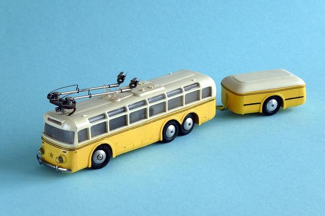 model tramvaje s přívěsem