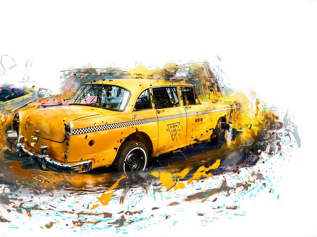 nakreslené taxi